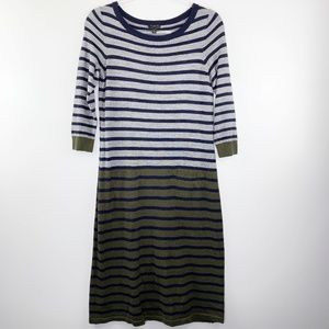 Talbots Wool Blend Striped Sweater Dress S